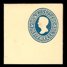 U173 5c Blue on Amber, die 1, Mint Full Corner, 50 x 50