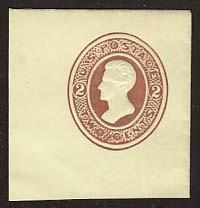 U123 2c Brown on Amber, die 1, Mint Full Corner, 45 x 47