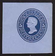 U175 5c Blue on Blue, die 1, Mint Full Corner