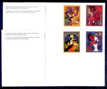 UX445-48 UPSS# S459-62 23c Let's Dance Mint Postal Cards
