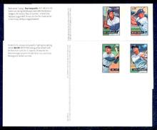 UX454-57 24c Baseball Sluggers Mint Postal Cards