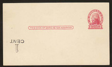 UX33f UPSS# S45-42f Seattle, Surcharge Inverted LL, Mint Postal Card