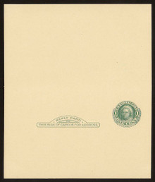 UY14d UPSS# MR23-1a Revalued 2c on 1c UY7, vertical below stamp, Tickometer, Mint UNFOLDED
