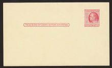 UX38 UPSS# S54Ba 2c Ben Franklin, Red on Buff, Type 2, Damaged Corner, Mint Postal Card