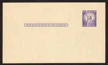 UX46var UPSS# S63i 3c Statue of Liberty Mint Postal Card
