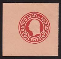 U431a 2c Carmine on Oriental Buff, die 2, Mint Full Corner