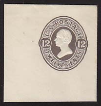 U195 12c Plum on White, Mint Cut Square, 50 x 50