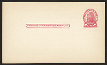 UX29 UPSS# S41 1c Thomas Jefferson, Red on Cream, Die 1 Clean Face Postal Card