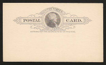 UX9 UPSS# S8 1c Thomas Jefferson, Black on Buff Clean Face Postal Card