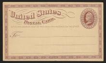 UX3 UPSS# S2 1c Liberty Head, Small Watermark Clean Face Postal Card