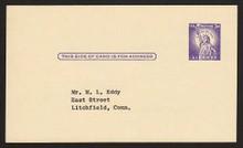UX46var UPSS# S63i 3c Statue of Liberty Unused Postal Card
