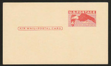 UXC1a UPSS# SA1a 4c Eagle, Deep Red, Clean Face Postal Card
