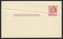 UX38 UPSS# S54B 2c Ben Franklin, Red on Buff, Pre-Printing Paper Fold, Type 2 Mint Postal Card