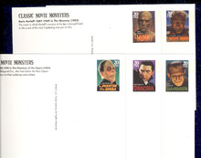 UX285-89 UPSS# 298-302 20c Movie Monsters Mint Postal Cards