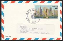 UXC23 UPSS# SA22 33c Ameripex '86, Chicago Postal Card, Used to Australia