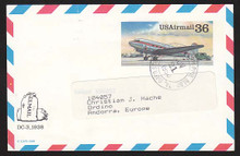 UXC24 UPSS# SA23 36c DC-3 Postal Card, Used to Andorra
