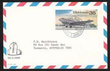 UXC24 UPSS# SA23 36c DC-3 Postal Card, Used to Australia