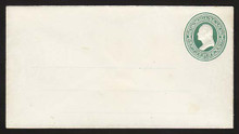 U82 UPSS # 166A 3c Green on White, Mint Entire with Ruled Lines, Couple light stains
