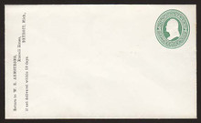 U82 UPSS # 171 3c Green on White, Mint Entire, CC