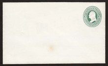 U82 UPSS # 171B 3c Green on White, Mint Entire with Ruled Lines, Small stain