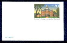 UX262 UPSS# 275 20c St. John's College Mint Postal Card