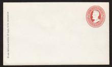U85 UPSS # 204 6c Red on White, Mint Entire, GR