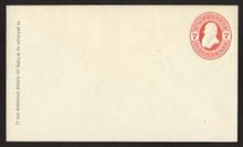 U88 UPSS # 221 7c Vermillion on Amber, Mint Entire, GR