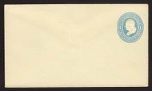 U114 UPSS # 270-2 1c Light Blue on Amber, die 2, Mint Entire