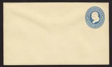 U114 UPSS # 271-6 1c Light Blue on Amber, die 2, Mint Entire
