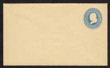 U114 UPSS # 271-7 1c Light Blue on Amber, die 2, Mint Entire