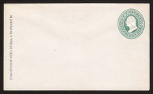 U163 UPSS # 391-6 Green on White, die 2, Mint Entire, GR