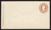 U122 UPSS # 295 2c Brown on White, die 1, Mint Entire, GR