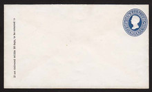 U177 UPSS # 475a 5c Blue on White, die 2, Mint Entire, GR