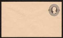 U207 UPSS # 619 30c Black on Oriental Buff, Mint Entire, Light hinge marks on back flap.