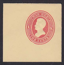 UO48 2c Red on Amber, Mint Full Corner, 50 x 50