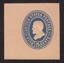 U332 5c Blue on Oriental Buff, die 1, Mint Full Corner