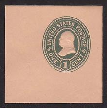 U354 1c Green on Oriental Bull, Mint Cut Square, 47 x 47