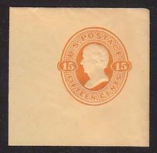U98 15c Red Orange on Cream, Mint Full Corner, 50 x 50