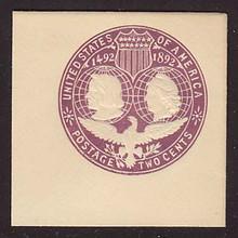 U349 2c Violet on White, die 3, Mint Full Corner