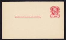 UY8m UPSS# M15 1c Washington, Red Mint Message Half