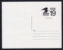 CVUX2, UPSS #PB1 19c Postal Buddy Mint Postal Card