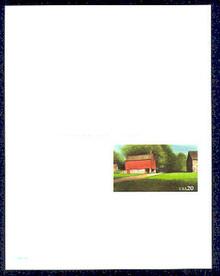 UY41 UPSS# MR51 20c Red Barn Mint UNFOLDED