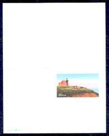 UY42 UPSS# MR52 20c Block Island Lighthouse Mint UNFOLDED