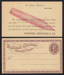 UX3 New York, NY Harrison, Bradford Co. Advertising, Salemans Card