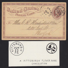 UX3 Pittsburh, PA Flower in Circle FANCY Cancel