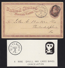 UX3 Pittsburgh, PA Skull & Cross Bones FANCY Cancel