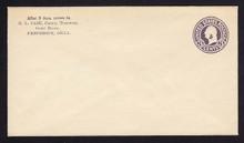 U477, UPSS #3021-19 2c on 3c Dark Violet on White, die 1, Mint Entire