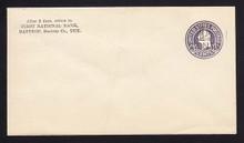 U474a, UPSS #3075-19 2c on 1c on 3c Dark Violet on White, die 5, Mint Entire