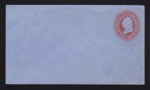 U286 UPSS# 788 2c Red on Blue, die 1, Mint Entire