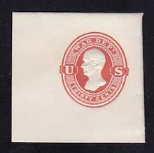 UO67 30c Red on White, Mint Full Corner, 50 x 50
